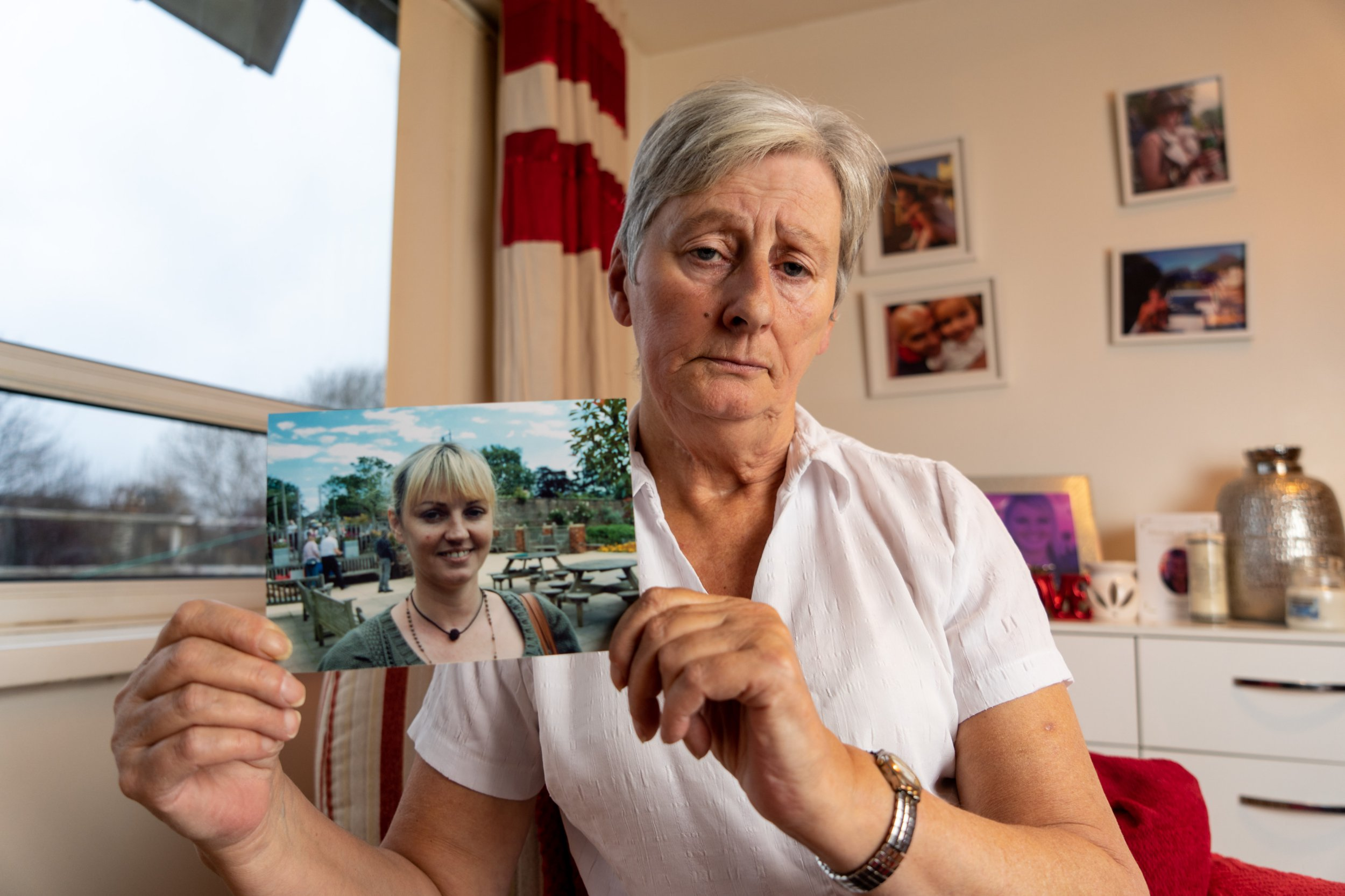 "***Online usage fee ?75 per picture. Print fee ?300.*** Photo by Darren O'Brien Image shows Elaine Hines, 65, at her home in Shipley, West Yorkshire, holding a photo of daughter Amanda. For feature on Elaine Hines and daughter Amanda Gill. Amanda dies whilst in Mexico and her body was harvested of all Organs before reaching the UK. Date taken 06/12/2018 Amanda Gill, from Shipley, West Yorkshire, died while on holiday in Mexico. But her mother was horrified to discover that all her organs had been stolen. Everything inside her was missing apart from her lower bowel. Her mother Elaine Hines, 65, said: ""She came home empty. They stole everything inside her."""