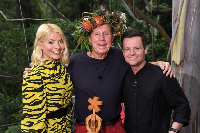 Editorial use only Mandatory Credit: Photo by James Gourley/ITV/REX (10019593k) Harry Redknapp is crowned King of the Jungle and is joined by Holly Willoughby and Declan Donnelly 'I'm a Celebrity... Get Me Out of Here!' TV Show, Series 18, Australia - 09 Dec 2018