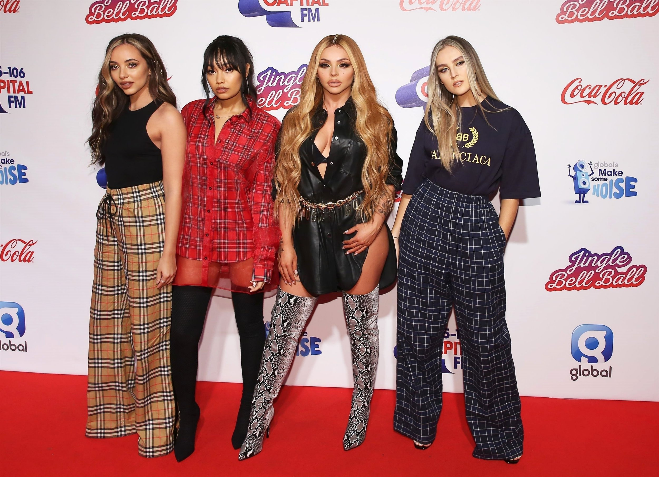 BGUK_1429599 - London, UNITED KINGDOM - Celebrities attend The Capital FM Jingle Bell Ball 2018 - Day Two at the 02 Arena in London Pictured: Jade Thirlwall, Leigh-Anne Pinnock, Jesy Nelson, Perrie Edwards, Little Mix BACKGRID UK 9 DECEMBER 2018 BYLINE MUST READ: WLHN / BACKGRID UK: +44 208 344 2007 / uksales@backgrid.com USA: +1 310 798 9111 / usasales@backgrid.com *UK Clients - Pictures Containing Children Please Pixelate Face Prior To Publication*