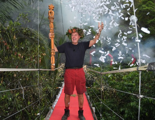 Harry Redknapp after winning I'm A Celeb