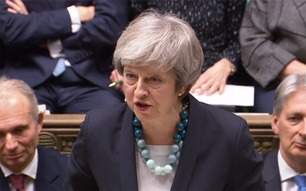 Theresa May gives a statement to the House of Commons regarding Brexit. 10.12.2018