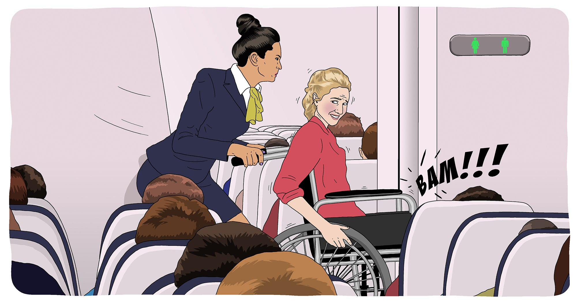 As a disabled person I shouldn't have to wear a nappy if I want to travel by plane