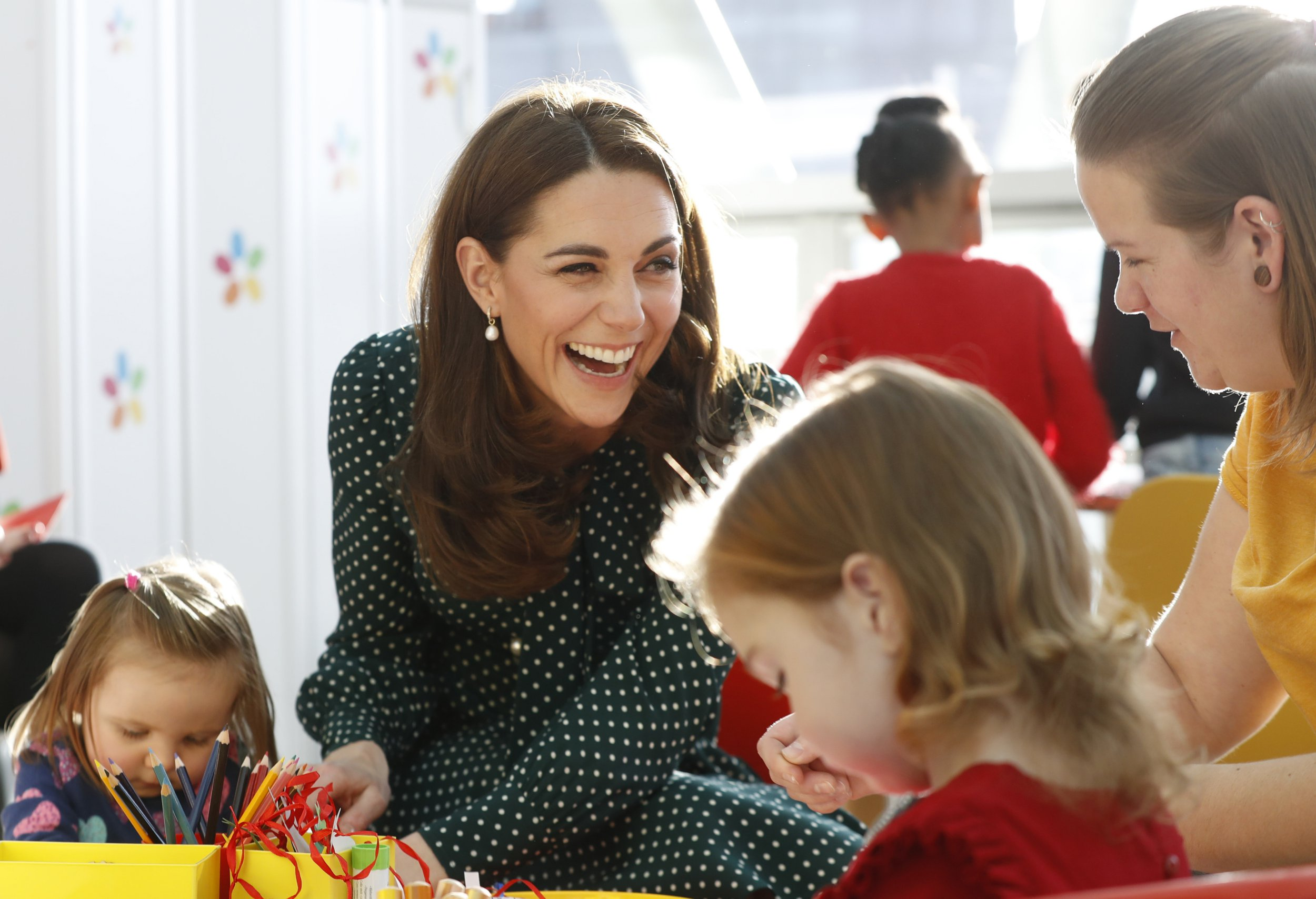 The Duchess of Cambridge during a visit to Evelina Children's Hospital in London. PRESS ASSOCIATION Photo. Picture date: Tuesday December 11, 2018. The Duke and Duchess met a number of children receiving care at the hospital, and heard from staff and parents about Evelina London?s life changing care and support for families. See PA story ROYAL Cambridge. Photo credit should read: Chris Jackson/PA Wire