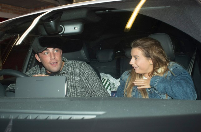 ONLINE - EXC ALL ROUND- STRICTLY NO ONLINE USAGE UNTIL 8AM ON 12 DEC 18 UK TIME ??500 for set info@mj-pictures.com - 020 3488 0648 Dani Dyer and Jack Fincham are all smiles and look well back on track as they return from family trip to Jack's parents house in Kent! They were amused when photographers gave them a jump as they returned home in first pictures of them back together since they split! Pictured : Dani Dyer, Jack Fincham