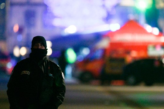 A policeman patrols in the rue des Grandes Arcades in Strasbourg, eastern France, after a shooting breakout, on December 11, 2018. - A gunman killed at least four people and seriously injured another 11 near the famed Christmas market in the French city of Strasbourg before fleeing the scene, security officials said. Police launched a manhunt after the killer opened fire at around 7pm local time (1800 GMT), sending crowds of evening shoppers fleeing for safety. (Photo by S??bastien BOZON / AFP)SEBASTIEN BOZON/AFP/Getty Images