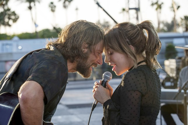 Bradley Cooper and Lady Gaga in the Warner Bros new film: A Star Is Born (2018) ( directed by Bradley Cooper).