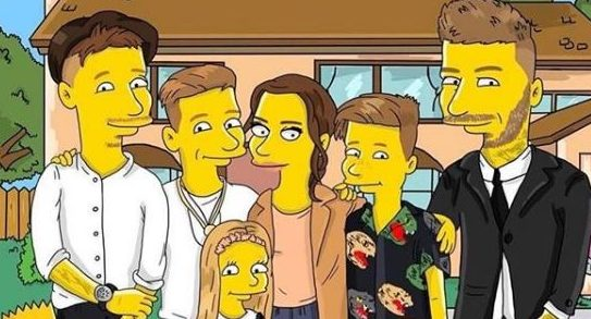 The Beckhams finally get The Simpsons treatment after David was turned down for 'not being famous enough'
