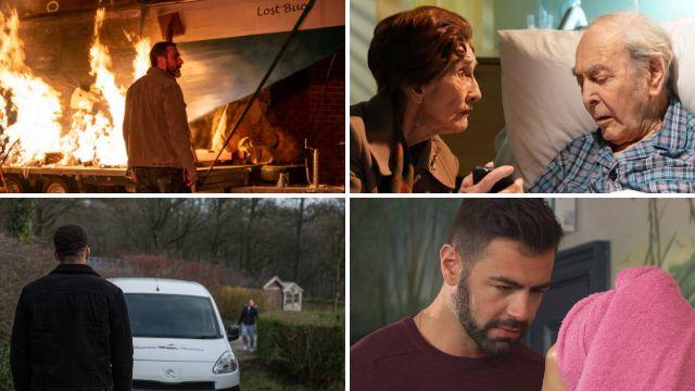 12 soap spoiler pictures: Coronation Street fire horror, EastEnders death, Emmerdale murder threat, Hollyoaks shooting