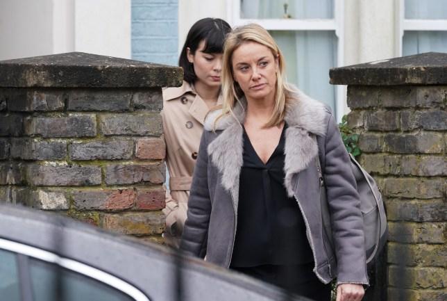 Mel is taken in for questioning in EastEnders