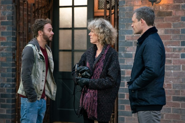 Audrey confronts David and Nick in Coronation Street