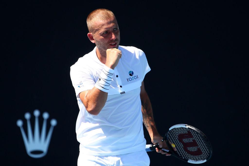 Britain's Dan Evans awaits Roger Federer in Australian Open second round