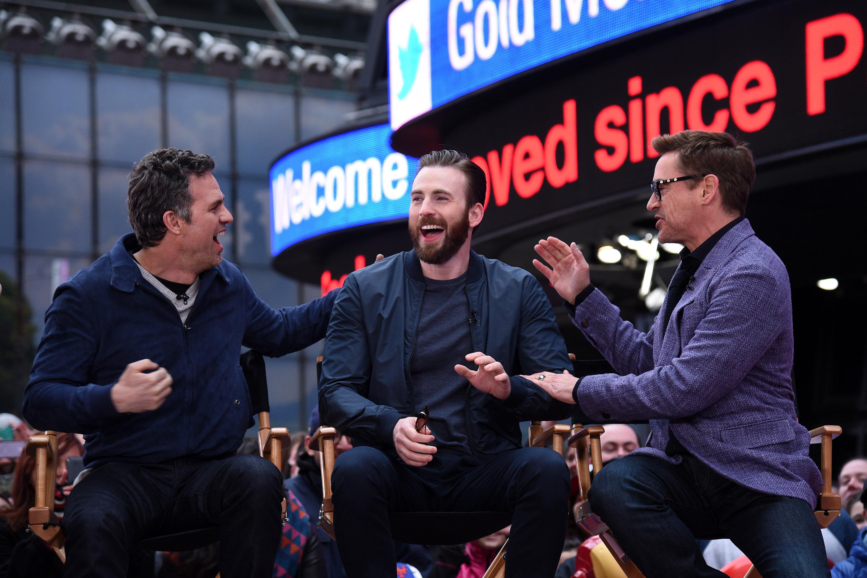 Mark Ruffalo and Robert Downey Jnr gang up on Avengers co-star Chris Evans