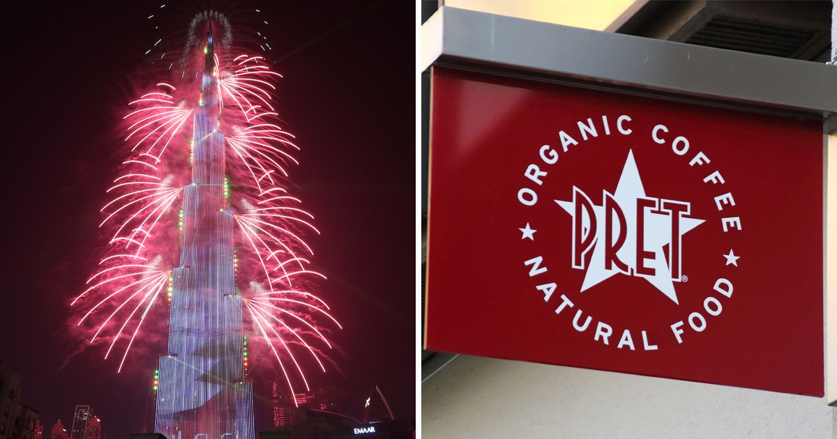 Pret charged £640 a table for seats with view of Burj Khalifa New Year fireworks