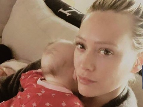 'Baby for sale': Hilary Duff asks fans for help as two-month-old daughter Banks suffers from colic