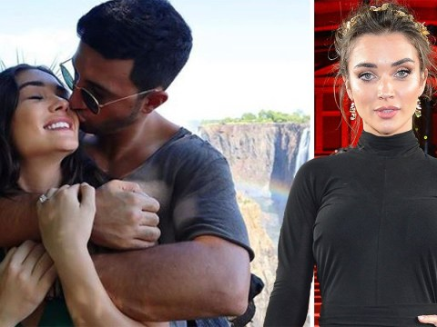 Supergirl's Amy Jackson announces engagement to multi-millionaire George Panayiotou in romantic waterfall snap