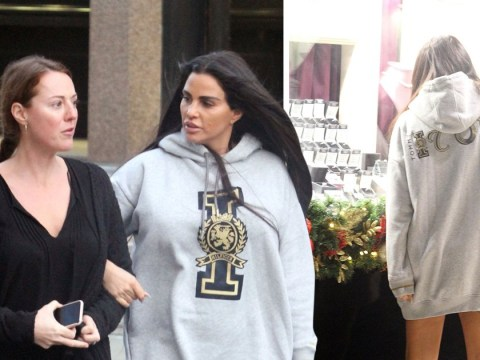 Katie Price wears 'icon' hoodie on girls' day out as after money woes and drink-driving arrest