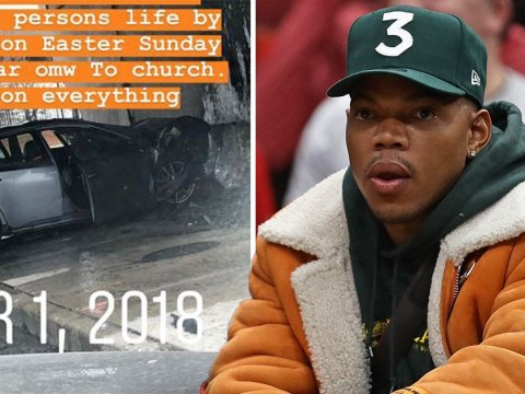 Chance The Rapper forgot to mention that he saved a man from a burning car