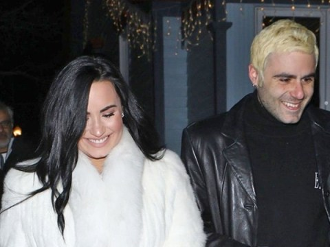 Demi Lovato looks giddy as she spends a festive evening in Aspen with boyfriend Henri Levy