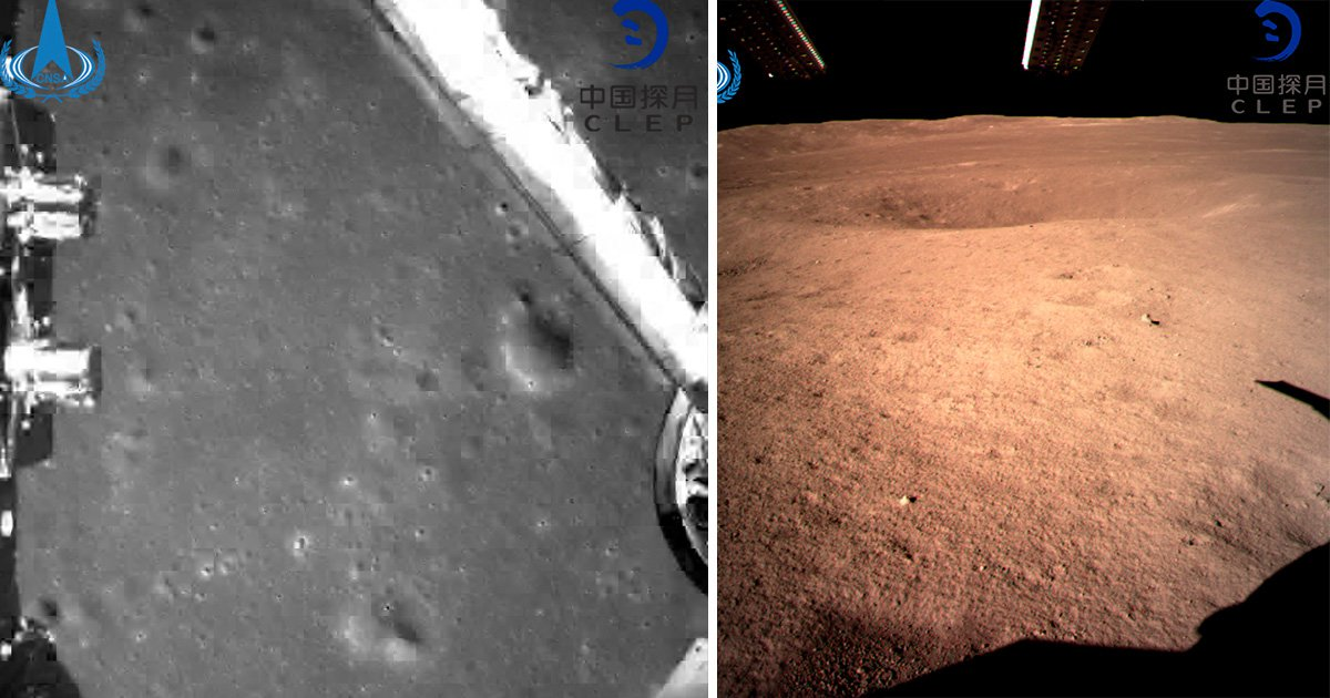Chinese spacecraft Chang'e 4 takes first picture on far side of the moon