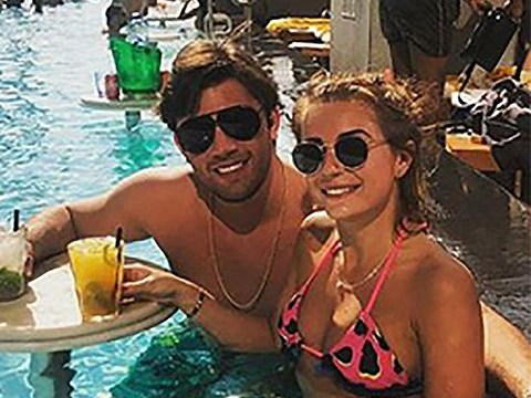 Dani Dyer 'can't handle her alcohol' as she trips over chair on Dubai getaway with Jack Fincham