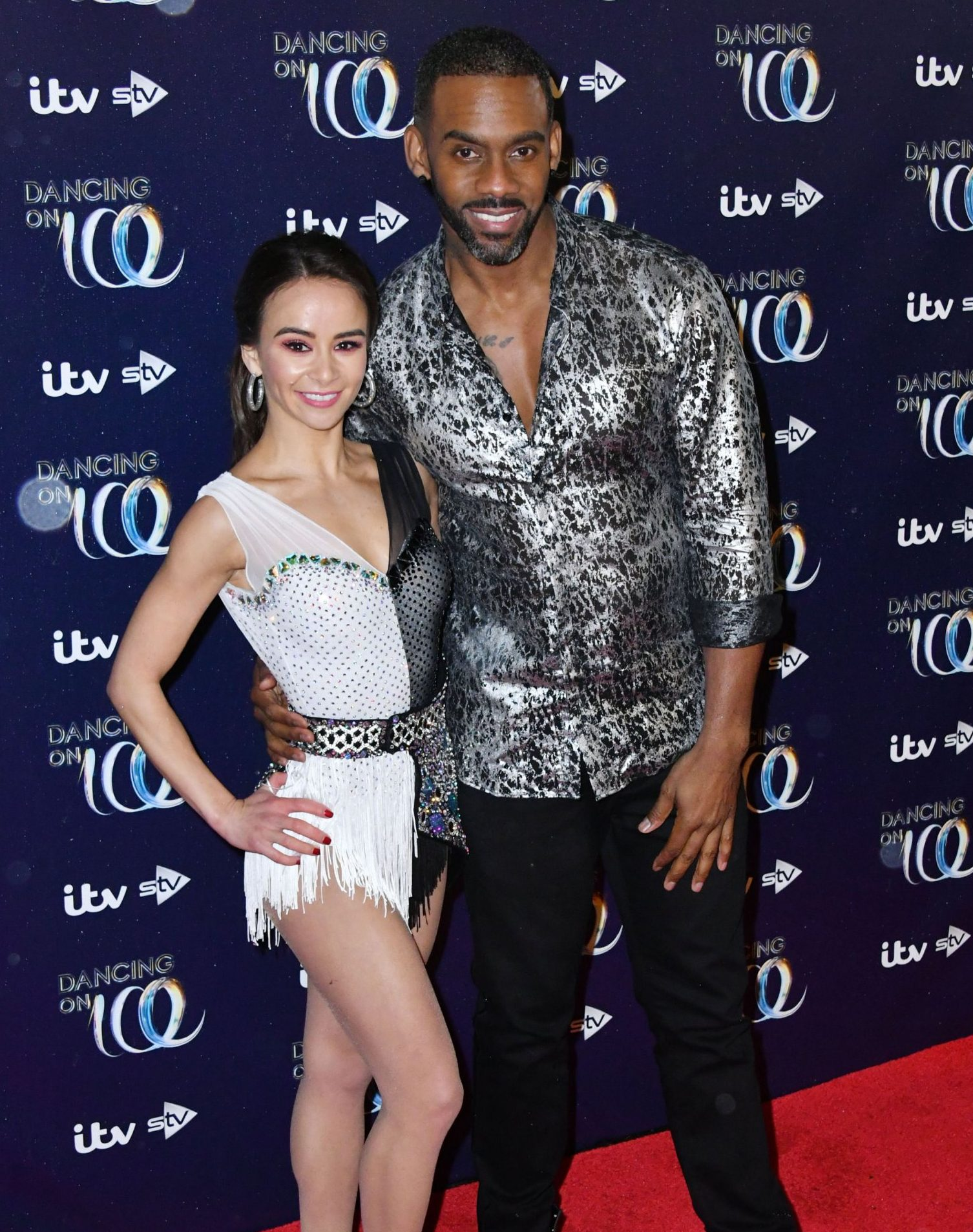 Mandatory Credit: Photo by Nils Jorgensen/REX (10037333ah) Carlotta Edwards, Richard Blackwood 'Dancing On Ice' TV show photocall, London, UK - 18 Dec 2018 Carlotta Edwards, Richard Blackwood at launch to celebrate the new series of the ITV Dancing On Ice skating competition, at Natural History Museum