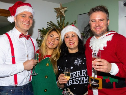 Divorced couple spend every Christmas together with new partners and in-laws