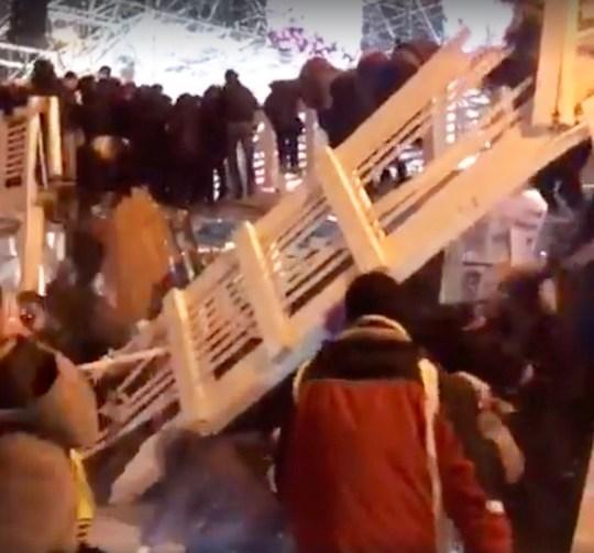 Gorky Park bridge collapses midnight on a New Year???s night