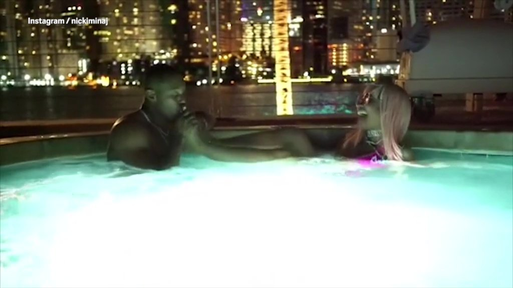 Nicki Minaj has her toes LICKED in steamy hot tub video with Kenneth Petty picture:nickiminaj METROGRAB ref: https://www.instagram.com/p/BsHeXUwgABA/