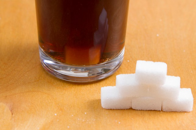 The approximate number of sugar lumps added to fizzy drinks