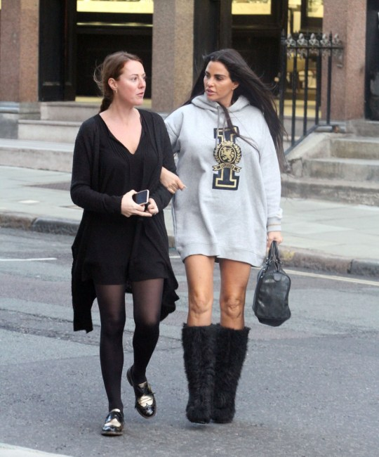 Katie Price Wears 'icon' Hoodie On Girls' Day Out As After