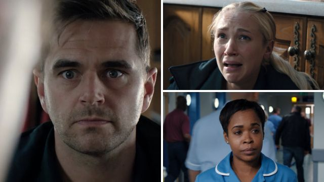 7 Casualty spoilers: Gunpoint terror for Iain and Ruby