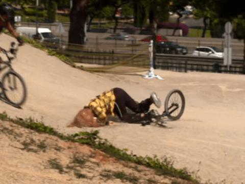 Charlotte Crosby 'nearly broke her neck' as she crashes bike twice on Celebrity Coach Trip