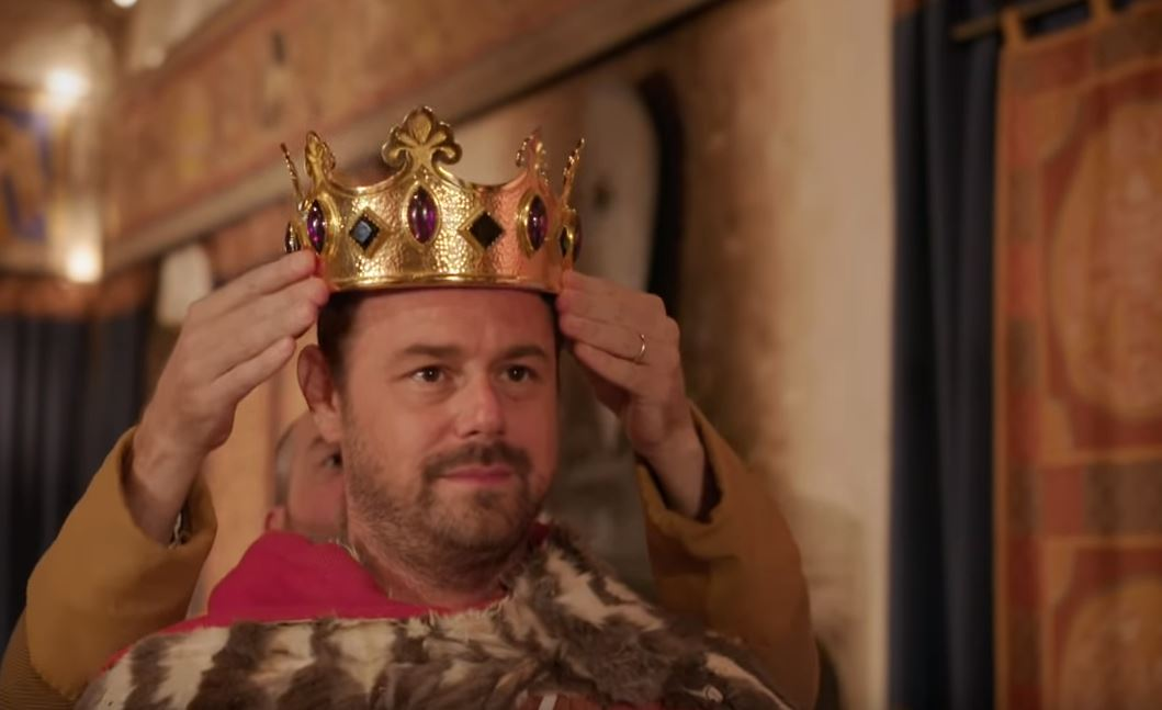 EastEnders star Danny Dyer regrets not 'tonguing a princess' as he tries out living like a royal in new Right Royal Family trailer