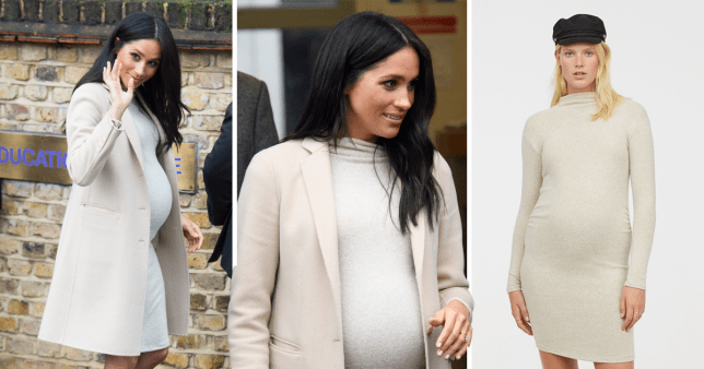 Meghan wears H&M maternity dress