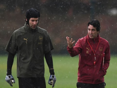 Petr Cech's retirement decision took Unai Emery by surprise