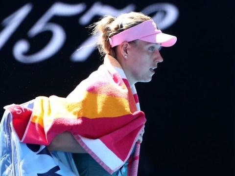 Angelique Kerber reacts to surprise Australian Open exit