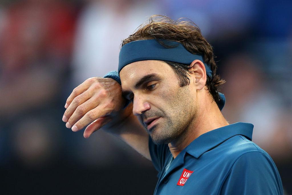 Serena Williams and Novak Djokovic react to Roger Federer's Australian Open exit