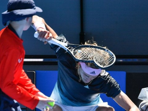 Alexander Zverev has complete meltdown and obliterates his racquet against Milos Raonic