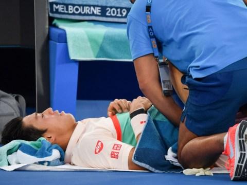 Kei Nishikori retires as Novak Djokovic books spot in Australian Open semi-finals