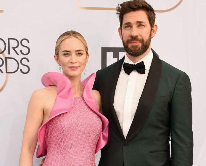 Emily Blunt dedicates SAG Awards win to husband John Krasinski and proves they're couple goals