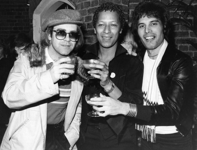 Elton John and Freddie Mercury