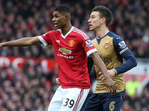 Arsenal captain Laurent Koscielny highlights Marcus Rashford as Manchester United danger man ahead of FA Cup clash