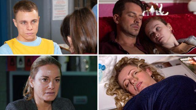12 soap spoiler pictures: EastEnders knife horror, Emmerdale death danger, Coronation Street return, Hollyoaks dangerous crush