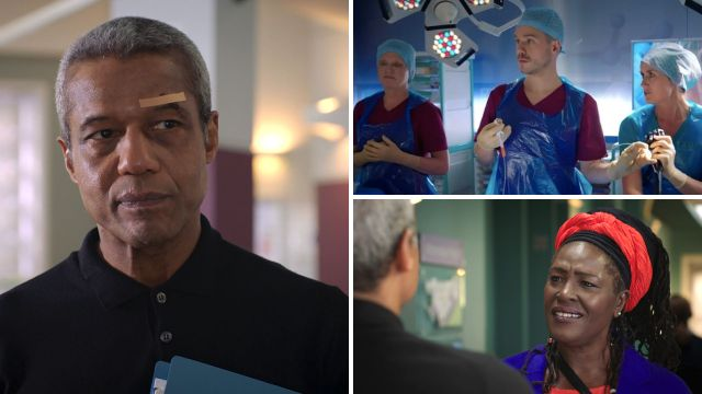 Holby City review with spoilers: Dominic's porky pies, Cameron's silver spoon and Ric's ex wife