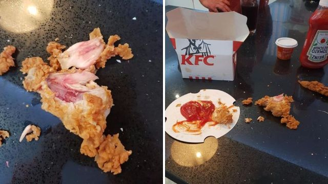 Mum served 'undercooked chicken' but KFC insists it's just 'natural colouration'