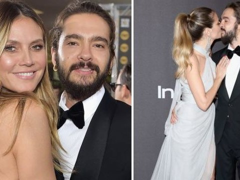Heidi Klum and Tom Kaulitz can't keep their hands off each other at Golden Globes after party