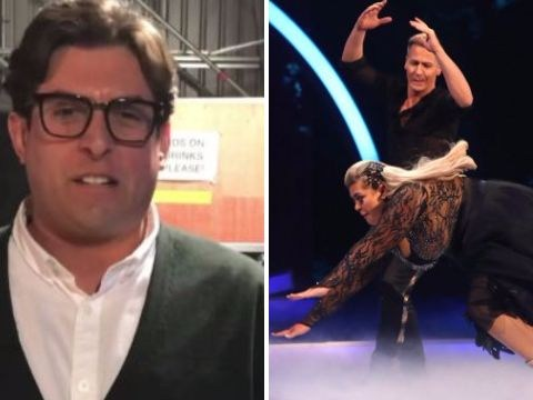 Gemma Collins' boyfriend reacts to ice faceplant and compares her to Tyson Fury
