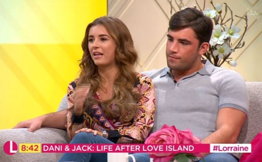 Jack Fincham and Dani Dyer get telling off from Lorraine over break