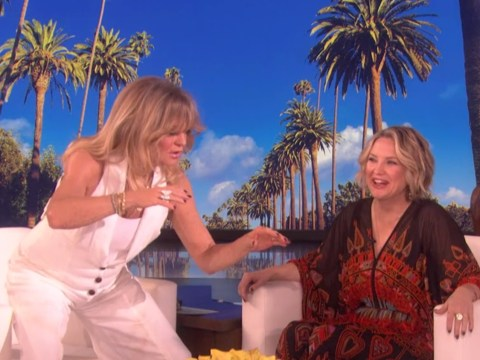 Goldie Hawn 'nearly fell in' after getting too close to daughter Kate Hudson as she gave birth