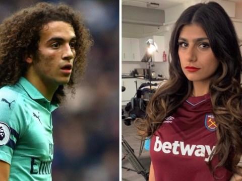 PornHub legend Mia Khalifa calls Arsenal star Matteo Guendouzi a 'f****** p****' during West Ham win